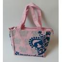 Purple Canvas taske med tryg