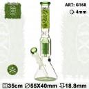 Bong Glass Dope Bros - H:35cm- Ø: 55/40mm-SG:18.8mm-1x spiral perc-ice noches