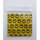 Smily zipperbag/ lynlåspose 5 x5 cm